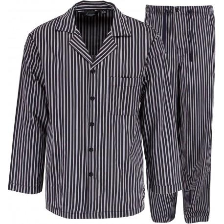 Ambassador pyjama - harmaa raidallinen