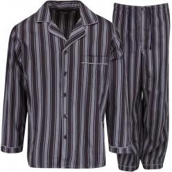 Ambassador flanelli pyjama - Musta / Harmaa