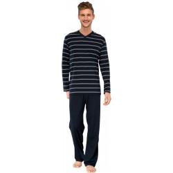 Schiesser pyjamat - Raidallinen Vihreä
