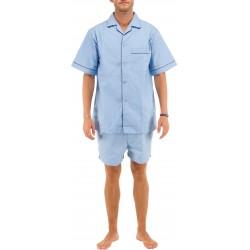 Vaaleansininen miesten pyjaman