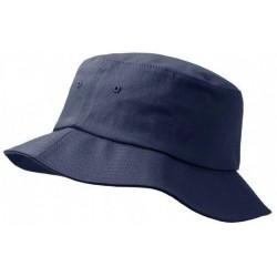 Tummanharmaa ämpäri hattu
