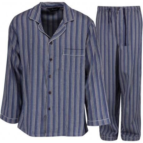 Ambassador flanelli pyjama - Sininen / Harmaa