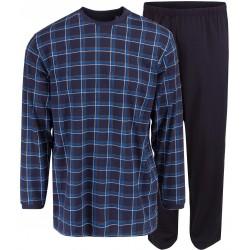 Ambassador Jersey pyjama - Siniruutuista