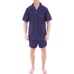 Tummansininen miesten pyjaman